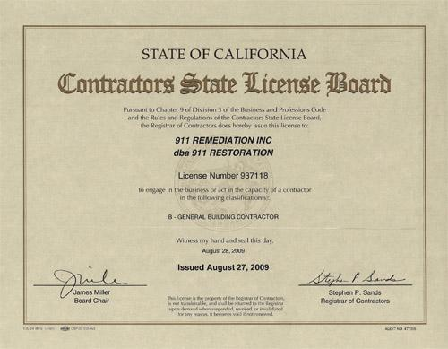 Contractor State License
